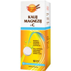 Natural Wealth kalij magnezij +C  20 šumećih tableta