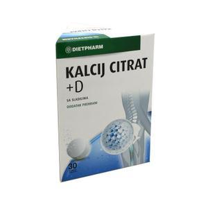Dietpharm kalcij citrat+D vitamin 30 šumećih tableta