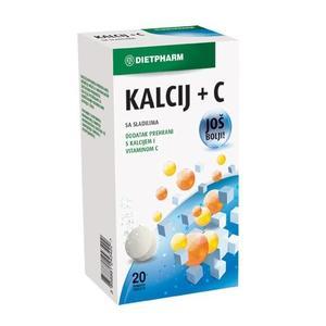 Dietpharm kalcij+C vitamin 20 šumećih tableta