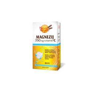 Natural Wealth magnezij 350 mg+C vitamin 20 šumećih tableta