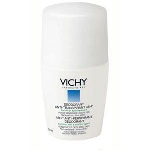 Vichy Dezodorans roll-on za regulaciju znojenja za osjetljivu kožu (bijeli), 50 ml