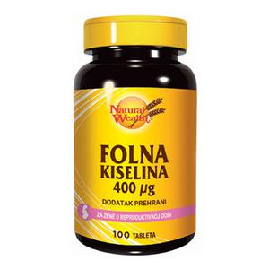 Natural Wealth folna kiselina 400 mcg   100 tableta