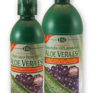 Aloe Vera sok s medom i borovnicom 1000 ml ESI