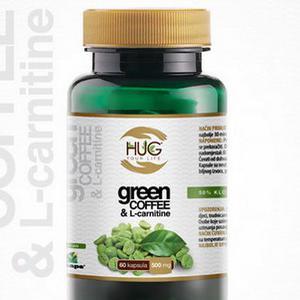 HUG zelena kava i L-carnitin 500 mg   60 kapsula