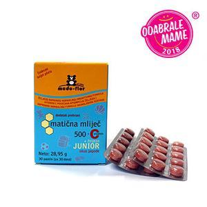 Medo flor matična mliječ 500 mg junior +C vitamin  30 pastila