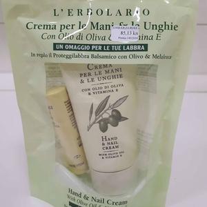 L'erbolario maslina krema za ruke 75 ml+lip balm