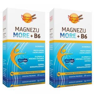 Natural Wealth magnezij more+B6 20 kapsula 1+1 gratis